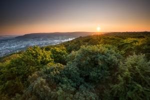 Sonnenaufgang im Norden der Alb, Aalen