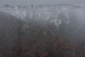Wintereinbruch an den Rutschenfelsen