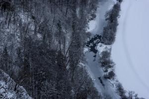 Winterstrukturen im Donautal