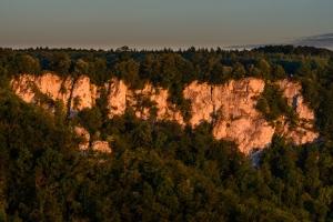 Morgenlicht an de Rutschenfelsen