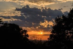 Sonnenuntergang über Pfullingen