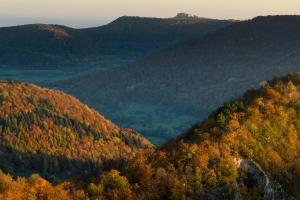 Herbstlicher Blick ins Ermstal