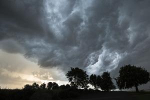 Aufziehende Gewitterfront