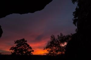 Abend in der Bocksteinhöhle