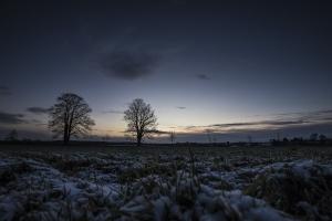 Wintereinbruch / Albhochfläche