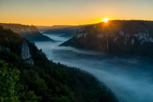 Nebel im Donautal bei Fridingen