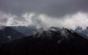 Ruine Hohenurach im Nebel, Bad Urach