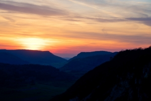 Sonnenuntergang, Hausen