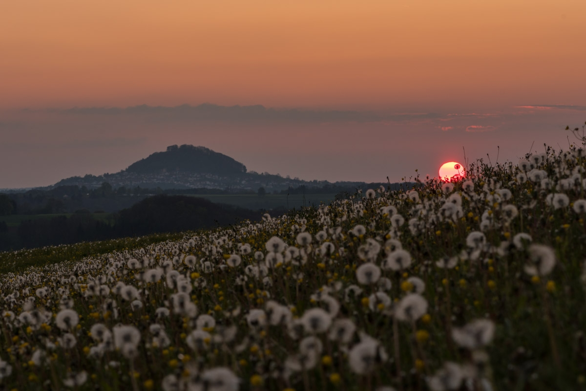 Sonnenuntergang mit Hohenstaufen