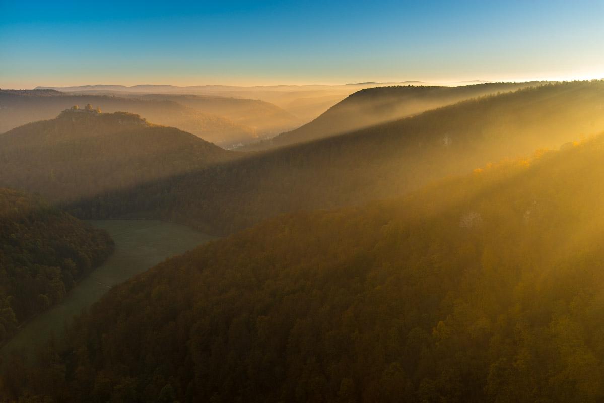 Blick von den Rutschenfelsen, Bad Urach
