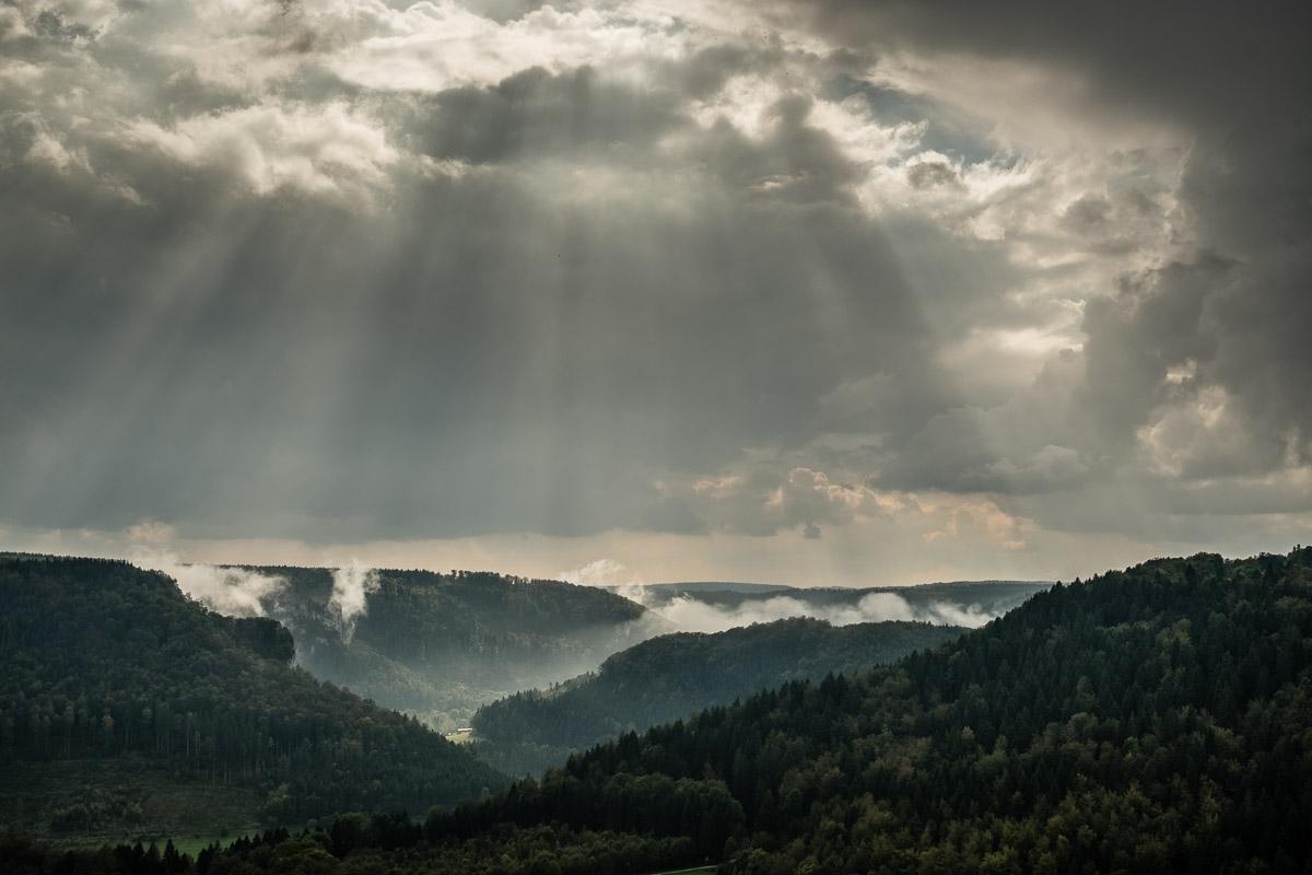 Blick vom Eichfelsen nach Westen
