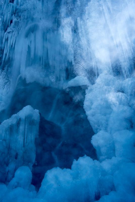 Eisnebel am Uracher Wasserfall