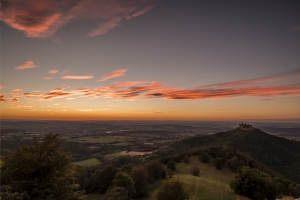 Blick vom Zellerhorn bei Sonnenuntergang