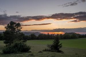 Heersberg ,Blick nach Westen bei Sonnenuntergang