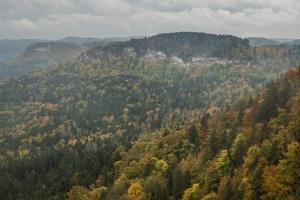 Blick auf Untereck, Grat und Gräbelesberg