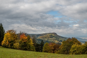 Blick vom Lochenhörnle Richtung Lochenstein und Schafberg