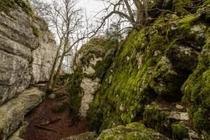 gespaltener Fels