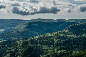 Blick auf Untereck und Gräbelesberg