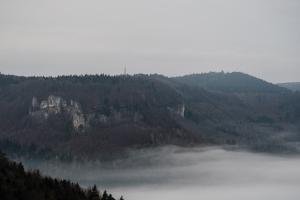 Nebel im Eyachtal, Gräbelesberg