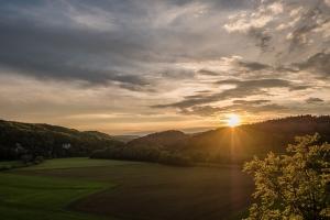 Blick vom Känzele (Inzigkofen) bei Sonnenuntergang