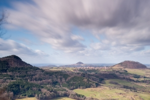 Blick vom Kalten Feld auf die drei Kaiserberge