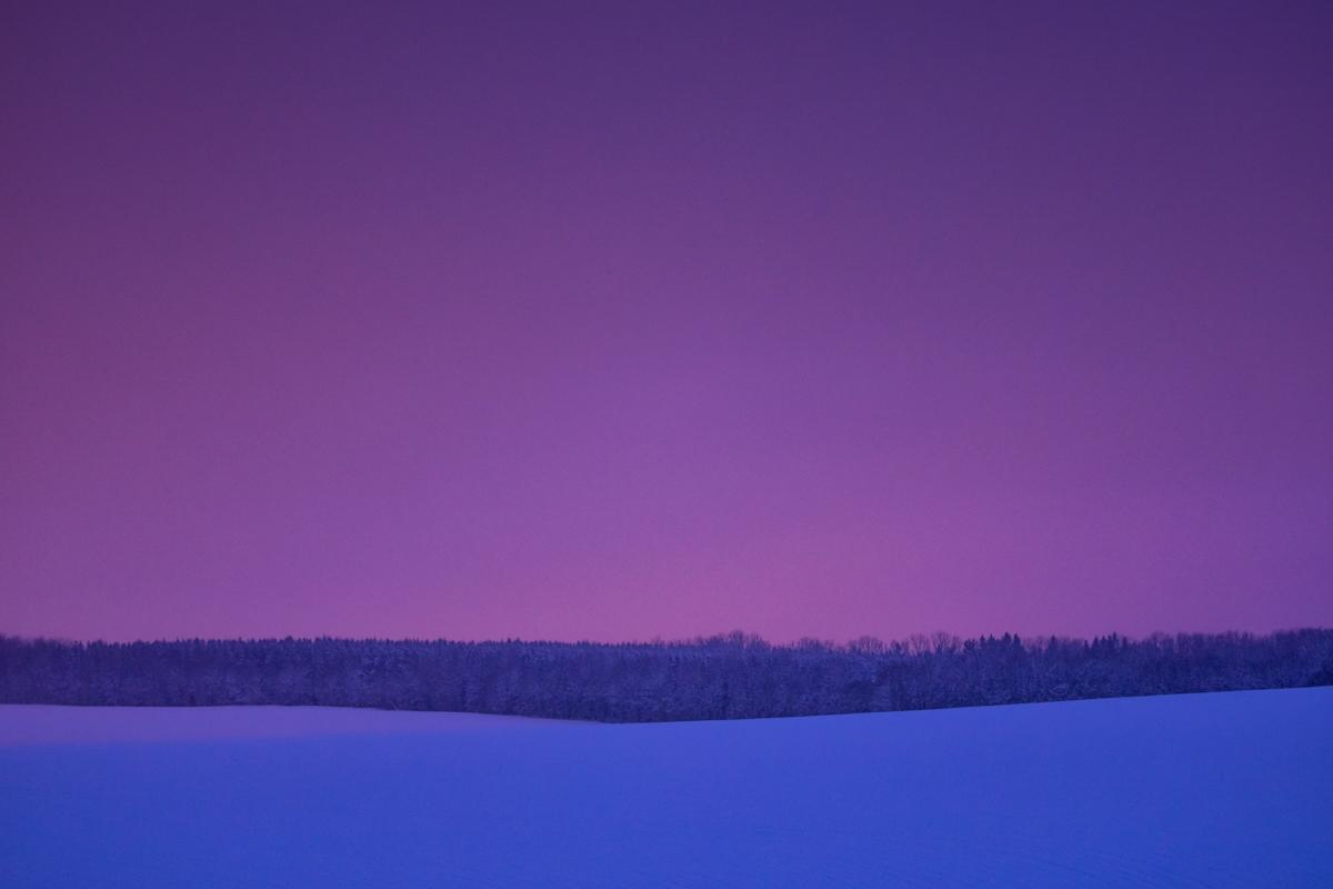 Morgenlicht auf der winterlichen Alb