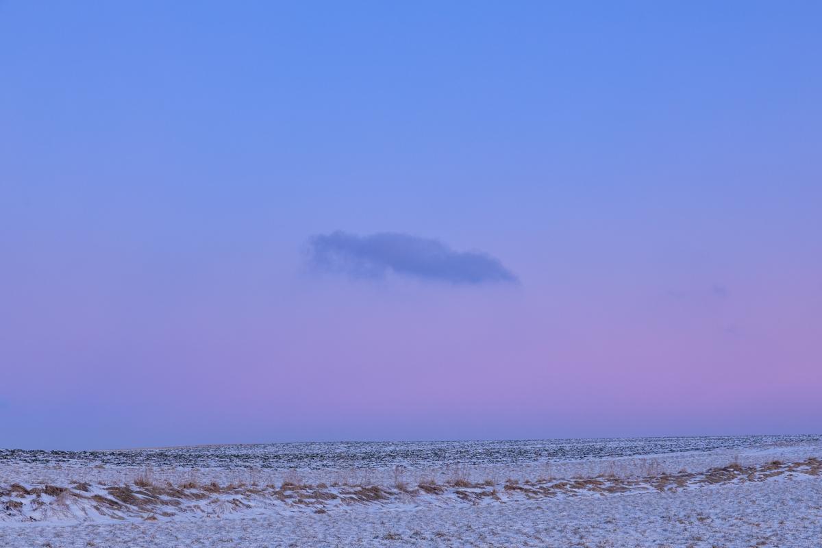 Wolke im Winter