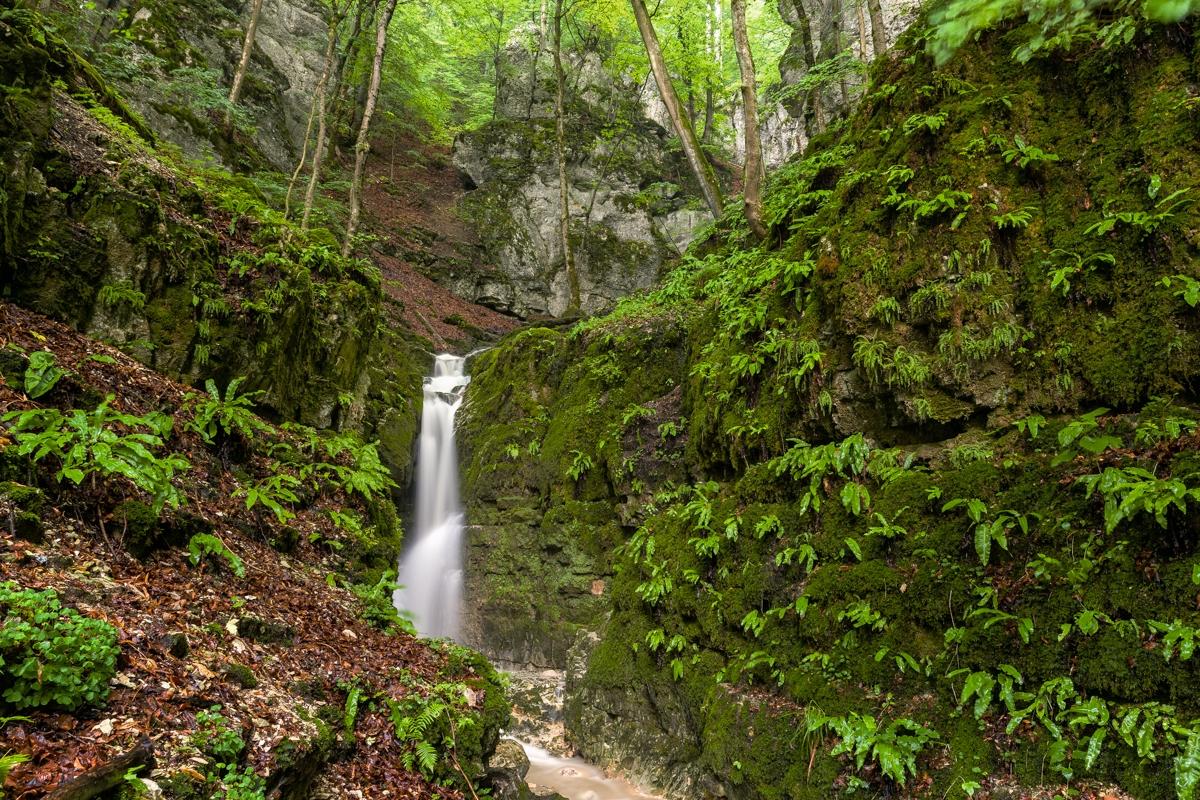 Wasserfall am Rulamanweg nach einem Gewitter