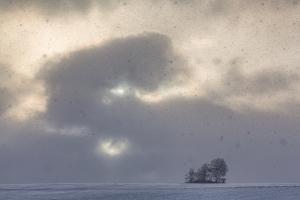 Sonne/Schneewolkenkampf bei Bremelau