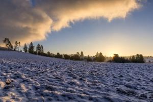 Acker im Winter beim Digelfeld - Hayingen