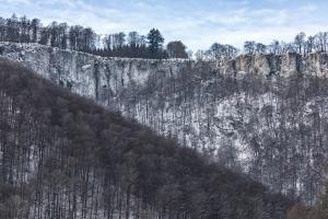 Rutschenfelsen im Winter