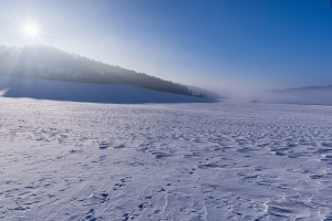 Schneeplateau auf der Alb bei Eglingen