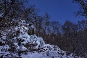 Eisiger Gütersteiner Wasserfall