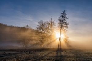 Sonnenaufgang im Eselsburger Tal