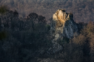 Erste Sonnenstrahlen auf dem Wielandstein