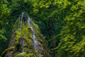 Detailausschnitt des Gütersteiner Wasserfalls