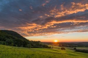 Sonnenuntergang im Alb-Vorland