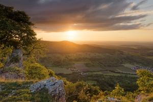 Blick vom Breitenstein auf den Sonnenuntergang