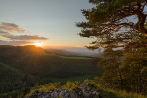 Sonnenuntergang bei Hossingen