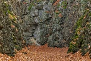 Felsschlucht bei Lichtenstein
