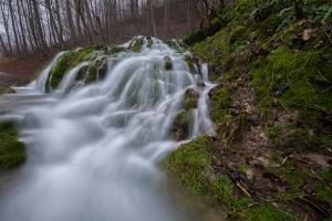 Schmelzwasser am Albhang